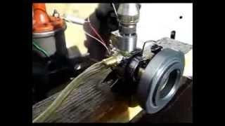 getlinkyoutube.com-Двухтактный самодельный двигатель 1cc (кубик). Испытания.