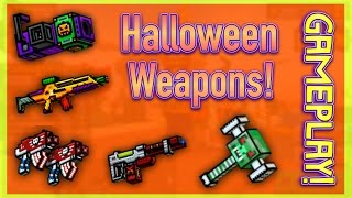 getlinkyoutube.com-Pixel Gun 3D - Halloween Weapon Gameplay!