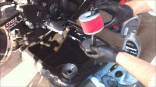 getlinkyoutube.com-How to change oil on a ninja 250