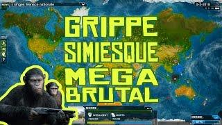 getlinkyoutube.com-Plague Inc. Evolved Gameplay #35 Grippe simiesque en Méga Brutal! FR