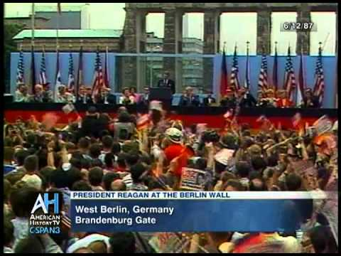 "President Ronald Reagan Clip: ""Tear Down This Wall"""