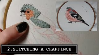 getlinkyoutube.com-2. Hand Embroidery. Chaffinch. Stitching a Bird by Craft Jitsu Online Class