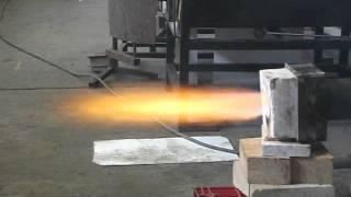 getlinkyoutube.com-waste oil burner for glass and ceramic (quemador de aceite para vidrio y ceramica)
