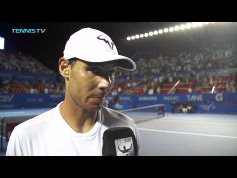 Nadal Discusses Nishioka Battle In Acapulco 2017