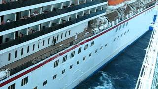 getlinkyoutube.com-Carnival Legend crashes into Royal Caribbean Enchantment of the Seas Part 5 Cruise Ships Crash