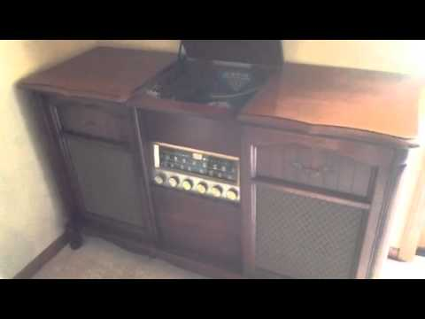 Louis Armstrong on the Magnavox Stereo Console