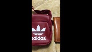 getlinkyoutube.com-Adidas Originals Classic Japan Mini Bag - Iphone 6S Plus, Wallet, Make Up, Accessories