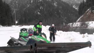 getlinkyoutube.com-Snowmobile loading fail