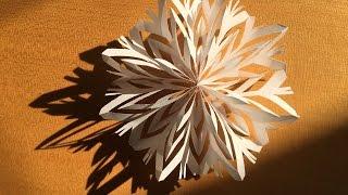 コピー用紙の雪の結晶