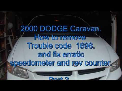 2000 DODGE CARAVAN repair.Error code P1698. PART 3.Re assemble the dash and test.
