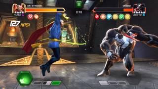 getlinkyoutube.com-INSANE!! - Marvel Contest of Champions - Dr Strange Vs Venom - Map5 Pi of 25,330
