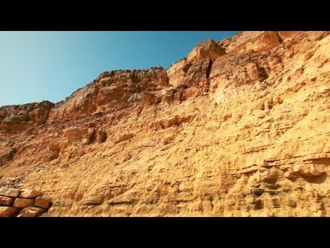 Stock Footage of a desert landscape in Israel.