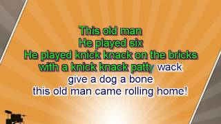 getlinkyoutube.com-Karaoke for kids - This Old Man - key -3 - with backing melody