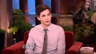 getlinkyoutube.com-Ellen Chats with Logan Lerman