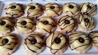 getlinkyoutube.com-Lemon mousse biscuits - صابلي راقي بموس الحامض - sablé prestige