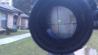 getlinkyoutube.com-Barrett M95 50 BMG SightMark green laser bore sighter and scope adjustment. Sight Mark