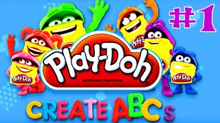 getlinkyoutube.com-Play Doh Create ABCs Alphabet Write Letters A to F Words Learning Fun Educational Apps for Kids #1
