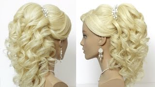 getlinkyoutube.com-Popular wedding prom hairstyles. Hair tutorial