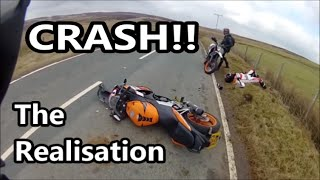getlinkyoutube.com-Motorcycle Crash - The Realisation