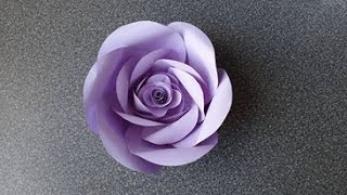getlinkyoutube.com-How to Make a Paper Rose Flower (type 5)