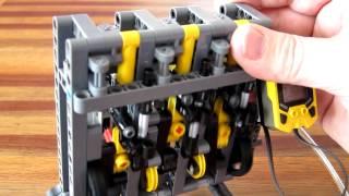 getlinkyoutube.com-Lego Pneumatic Engine - simple inline 3