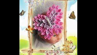 "getlinkyoutube.com-Большая бабочка ""Канзаши""/Мастер Класс / DIY/ Kanzashi/butterfly"