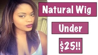 getlinkyoutube.com-Natural Looking Wig Under $25| Jannie