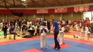 getlinkyoutube.com-40th NW Taekwondo Tournament-Nick Beyer's third fight to win the gold