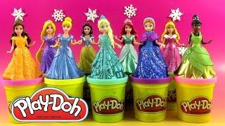 getlinkyoutube.com-9 Disney Princesses Magiclip Pâte à modeler Play Doh ♥ Doh Vinci