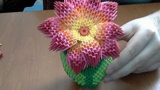 getlinkyoutube.com-How to make 3d origami rainbow flower