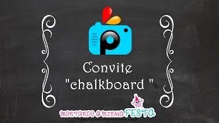 """getlinkyoutube.com-Como fazer convite """"chalkboard """" no aplicativo Picsart"""
