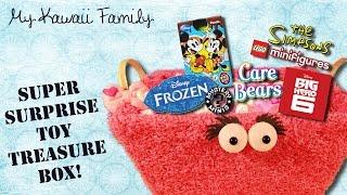 getlinkyoutube.com-Super Surprise TOY Treasure Box Ep4! LEGO Simpsons, Care Bears, Frozen Mystery Minis,  Baymax