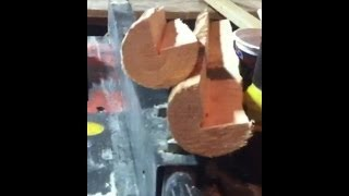 getlinkyoutube.com-Rustic log furniture how to make corner logs