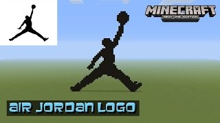getlinkyoutube.com-Minecraft: Pixel Art Tutorial and Showcase: Air Jordan Logo (Michael Jordan) (Jumpman)