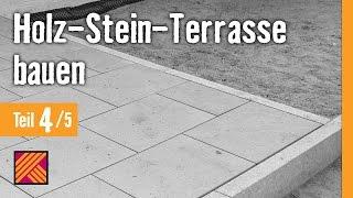getlinkyoutube.com-Version 2013 Holz-Stein-Terrasse bauen - Kapitel 4 : Granitplatten verlegen |