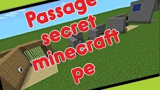 getlinkyoutube.com-TUTO: Passage secret minecraft pe #1