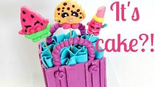 getlinkyoutube.com-Shopkins Cake ~ Edible Melonie Pips, Kooky Cookie & Lippy Lips - CAKE STYLE