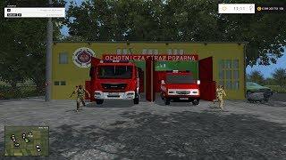 fs15 straż pożarna osp Wypadek ciężarówki