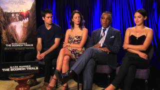 getlinkyoutube.com-The Cast of Maze Runner: The Scorch Trials talks to Meli