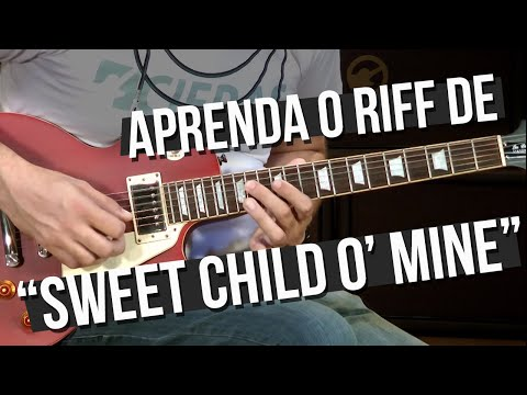 Guns N' Roses - Sweet Child O' Mine - Riff (como tocar - aula de guitarra)