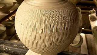 getlinkyoutube.com-Simple Textured Pottery Decoration Techniques : Chattering the Clay