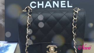 getlinkyoutube.com-Eye candy, Up close & details - Episode 1 - Chanel Black Caviar Square Mini - Cruise Collection 17C