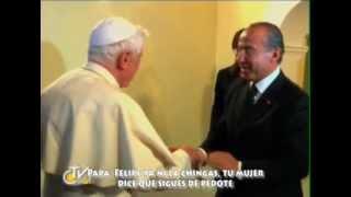 Benedicto regaña a Calderon