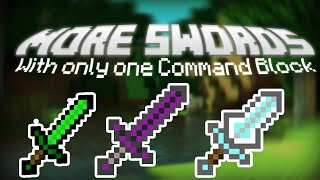 MORE SWORDS with only one Command Block | Minecraft [Survival Friendly]
