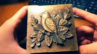 getlinkyoutube.com-wood carving | Carved jewelry box | Carving On Wood | art | gift | that give | how to make