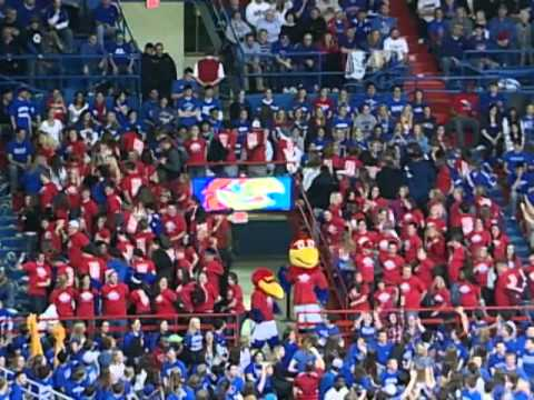 Jayhawk Buddies Flash Mob during University of Kansas Men's Basketball game