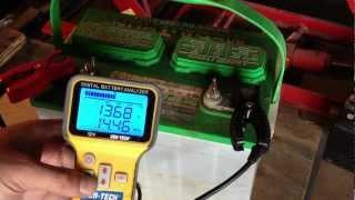 getlinkyoutube.com-Lead Acid Battery Desulfation Using Epsom Salt --First test after Charging  Part 3 of 6