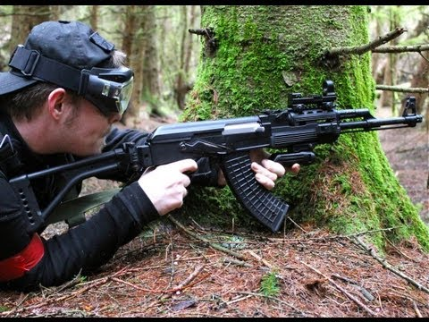Airsoft War Scotland M4 L85 G36 MP5 Section8 2012 HD