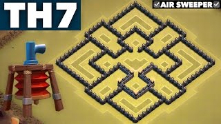 getlinkyoutube.com-Best UNDEFEATED #1 Town Hall 7 (TH7) Clan Wars Base with Air Sweeper | ANTI DRAG | Clash of Clans