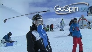 getlinkyoutube.com-Snowboard with your friends in GoSpin360 swivel mount & GoPro